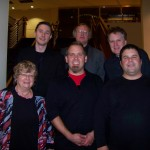 Tim Jansa with composers Vivienne Olive, Dieter Buwen and Robert Scott Thompson, as well as percussionist Stuart Gerber, conductor Robert J. Ambrose (Sept. 2010)